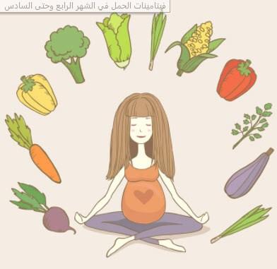 فيتامينات الحمل في الشهر الرابع وحتى السادس