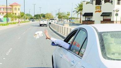 Photo of المرور: رمي المخلفات من المركبة أثناء سيرها مخالفة مرورية