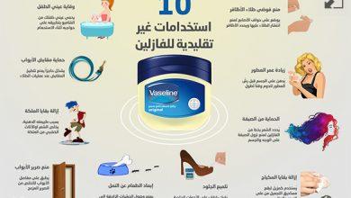Photo of إنفوغراف: 10 استخدامات غير تقليدية للفازلين