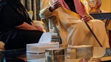 Photo of صور للأميرة ريما بنت طلال تجمعها مع الملك سلمان في عزاء والدها