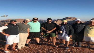 Photo of ولي العهد على قمة جبل اللوز (صور)