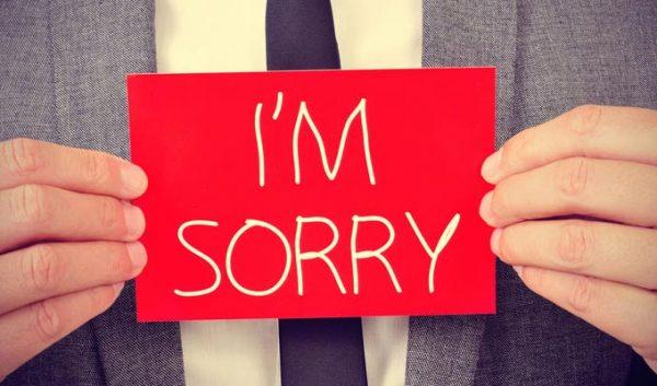 صور رسائل اعتذار واسف