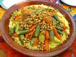 الكسكس المغربي بالخضر السبعة