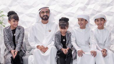 Photo of محمد بن راشد يلتقي أسرة إماراتية اختارت التعليم المنزلي لأبنائها