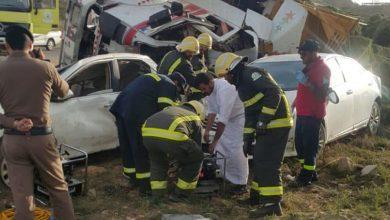 Photo of وفاة شخصين وإصابة 4 آخرين في حادث انقلاب شاحنة بالباحة (صور)