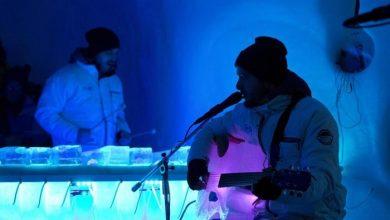 Photo of مهرجان إيطالي يستضيف موسيقيين يعزفون على آلات من الجليد