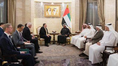 Photo of محمد بن زايد يستقبل وزير الخارجية الأمريكي