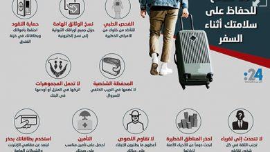 Photo of إنفوغراف: 10 نصائح للحفاظ على سلامتك أثناء السفر