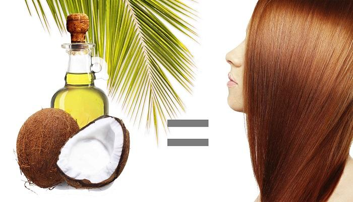 طريقة سريعه لفرد الشعر المجعد بزيت جوز الهند