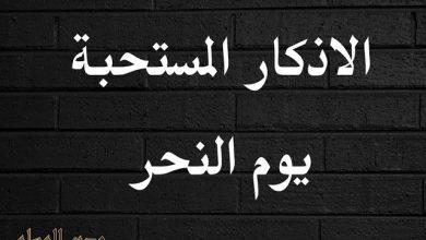 Photo of الأذكار المستحبة يوم النحر والتشريق