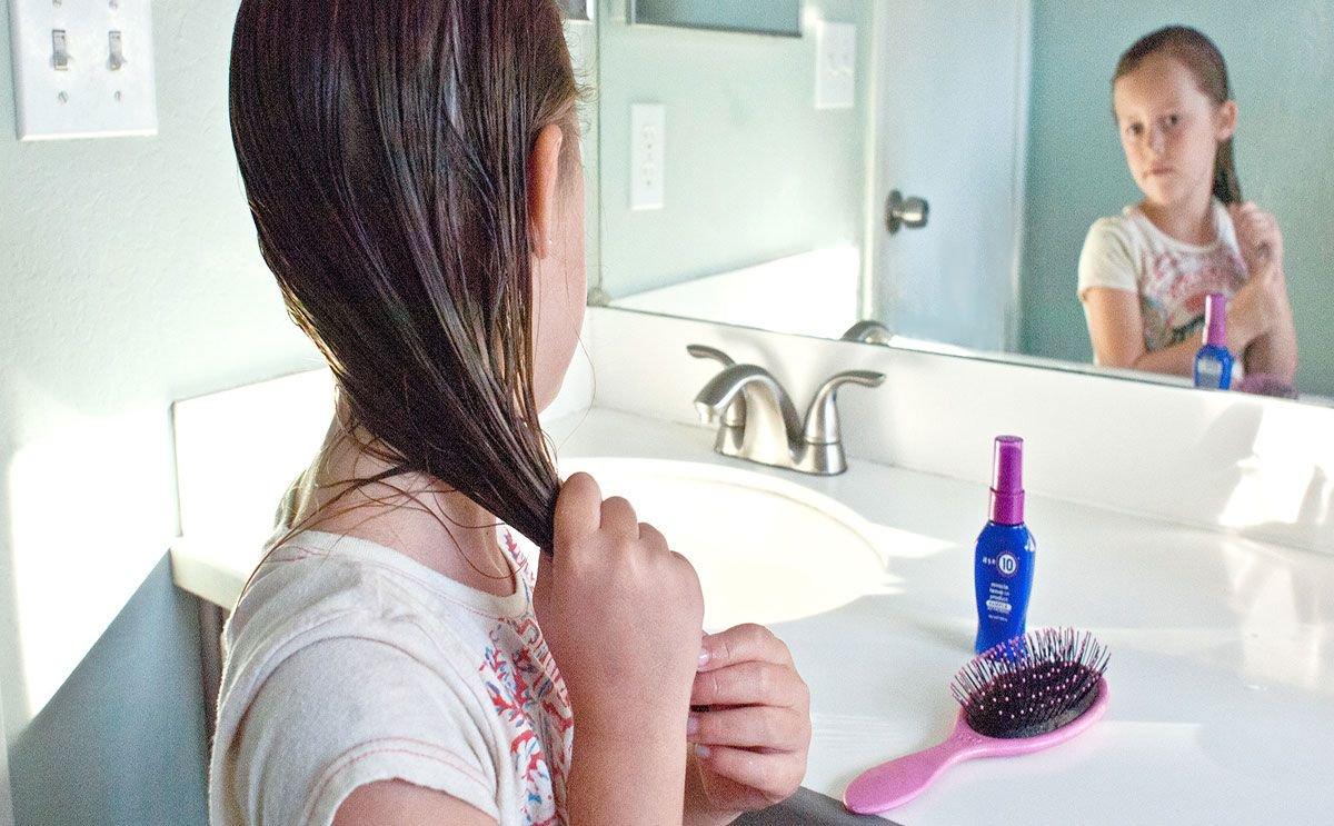 تكثيف شعر الاطفال عمر سنة
