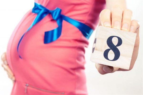صور الحمل في الشهر الثامن