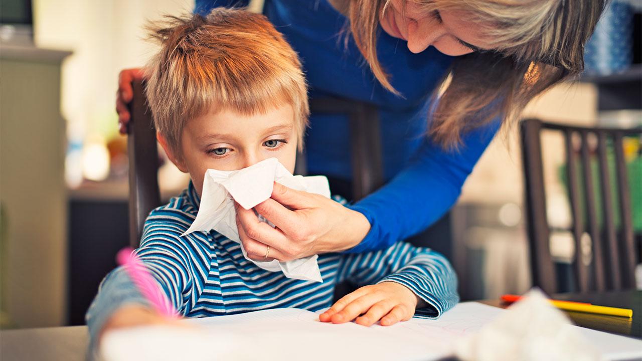 أفضل علاج للزكام عند الأطفال