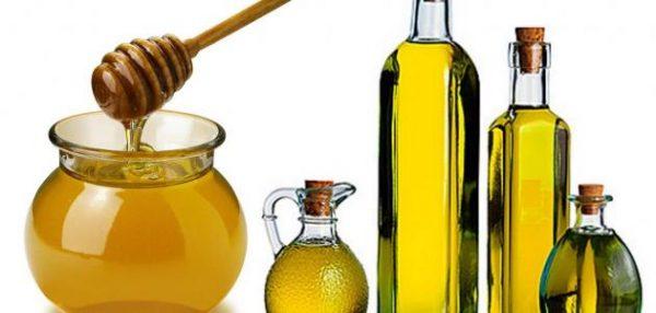 العسل وزيت الزيتون