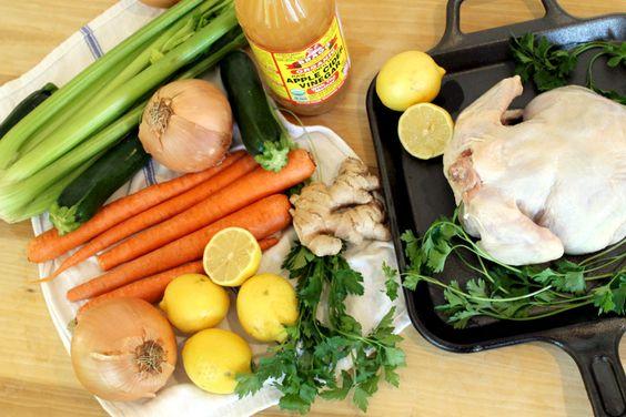 طريقة تحضير مرق الدجاج بالخضر