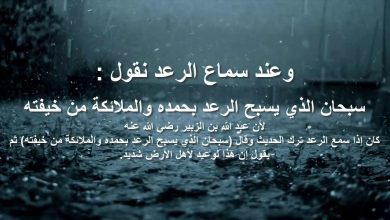 Photo of دعاء المطر والبرق