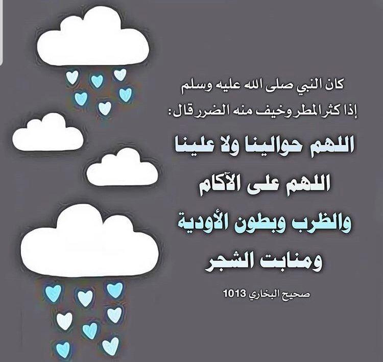 دعاء المطر من السنة